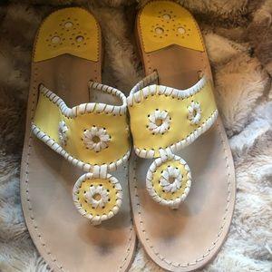 Jack Rogers Yellow Sandal